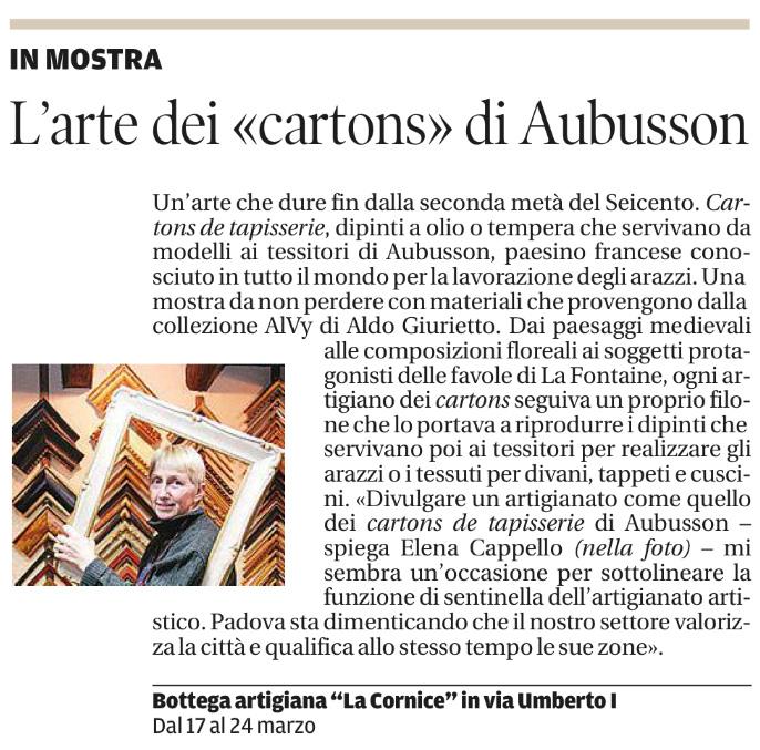 """L'arte dei """"cartons"""" di AubussonL'arte dei """"cartons"""" di Aubusson"""