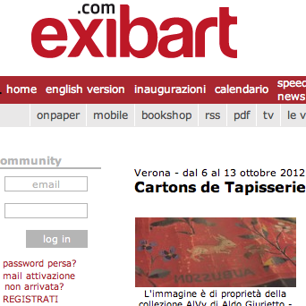 Comunicato Stampa su ExibartPress preview on Exibart